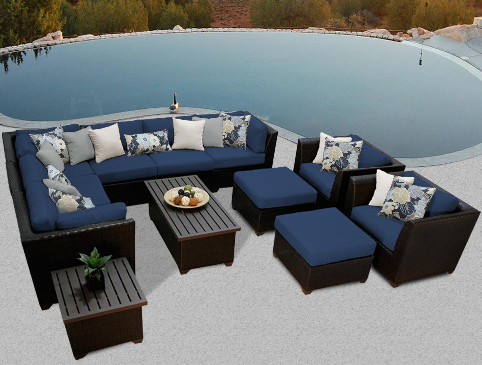 Superbe TK Classics Barbados 12 Piece Rattan Sectional Set With Cushions U0026 Reviews    Wayfair
