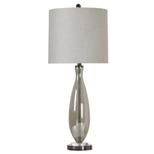 Clearance Lynsey Smoke Glass 33.5 Table Lamp By Ivy Bronx