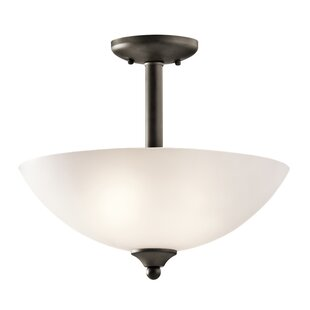 Alcott Hill Graybeal 2-Light Bowl Pendant