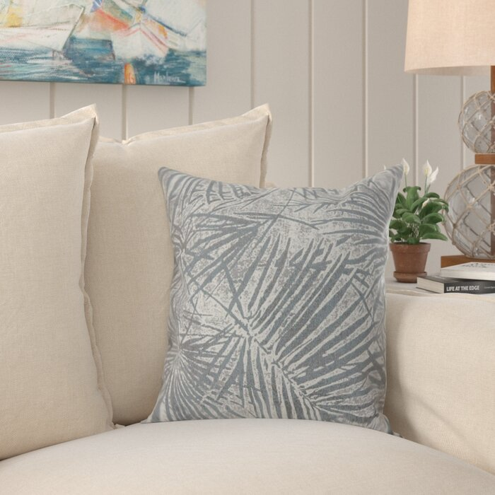 Wetzel Contemporary Palm Leaves Throw Pillow