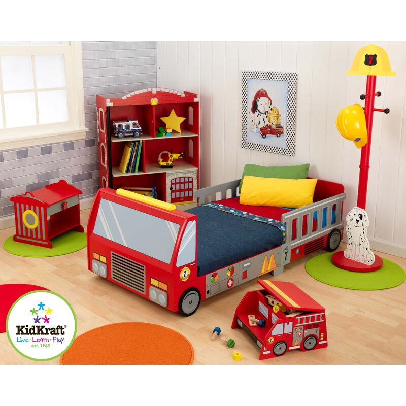 Firefighter Toddler Car Configurable Bedroom Set