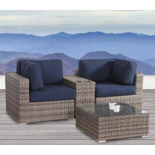 Jamesport 4 Piece Sunbrella Conversation Set with Cushions by Breakwater Bay