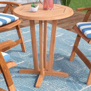 Beachcrest Home Elsmere Teak Dining Table