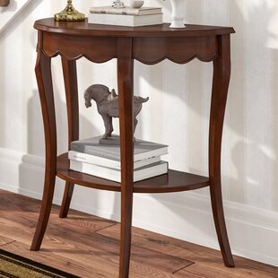 Asheville Half Moon Wood Console Table
