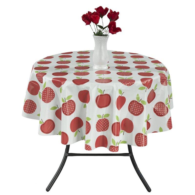 Berrnour Home Cute Apple Vinyl Indoor/Outdoor Tablecloth & Reviews ...