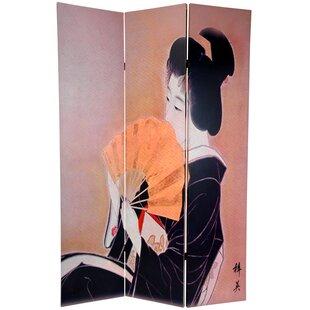 Bloomsbury Market Ruggles Geisha 3 Panel Room Divider