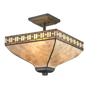 Luellen 3-Light Semi Flush Mount by Astoria Grand