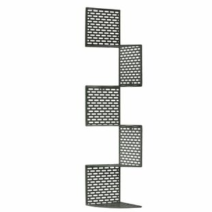 Deshong Large Metal Corner Wall Shelf with 5 Tiers, Perforated Surface and Backing by Latitude Run