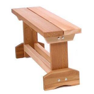 All Things Cedar Hardwood Doweling Garden Bench