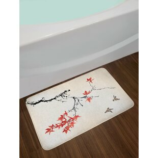 Japanese Cherry Blossom Bath Rug