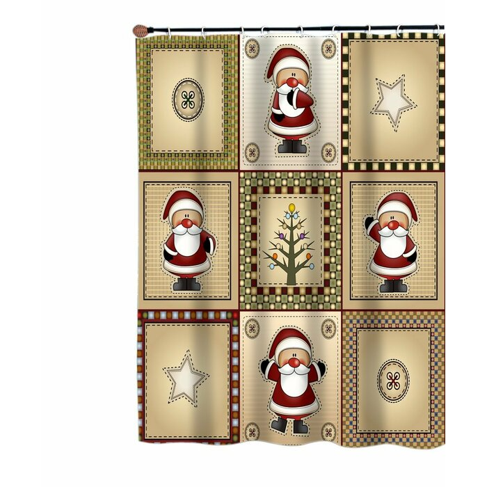 Country Santa Shower Curtain
