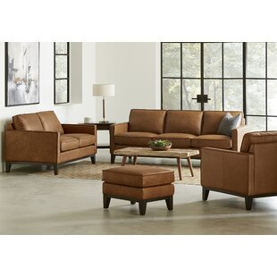 Whitson 4 Piece Leather Living Room Set By Foundry Select