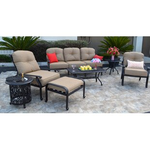 Kristy 7 Piece Sunbrella Sofa Set with Cushions