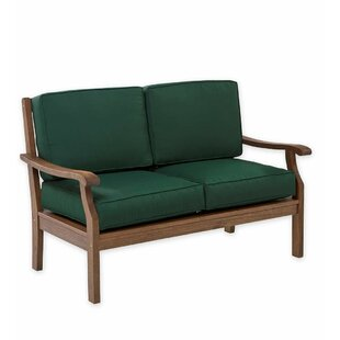 Claremont Deep Seating Love Seat With Cushions by Plow & Hearth 2019 Online