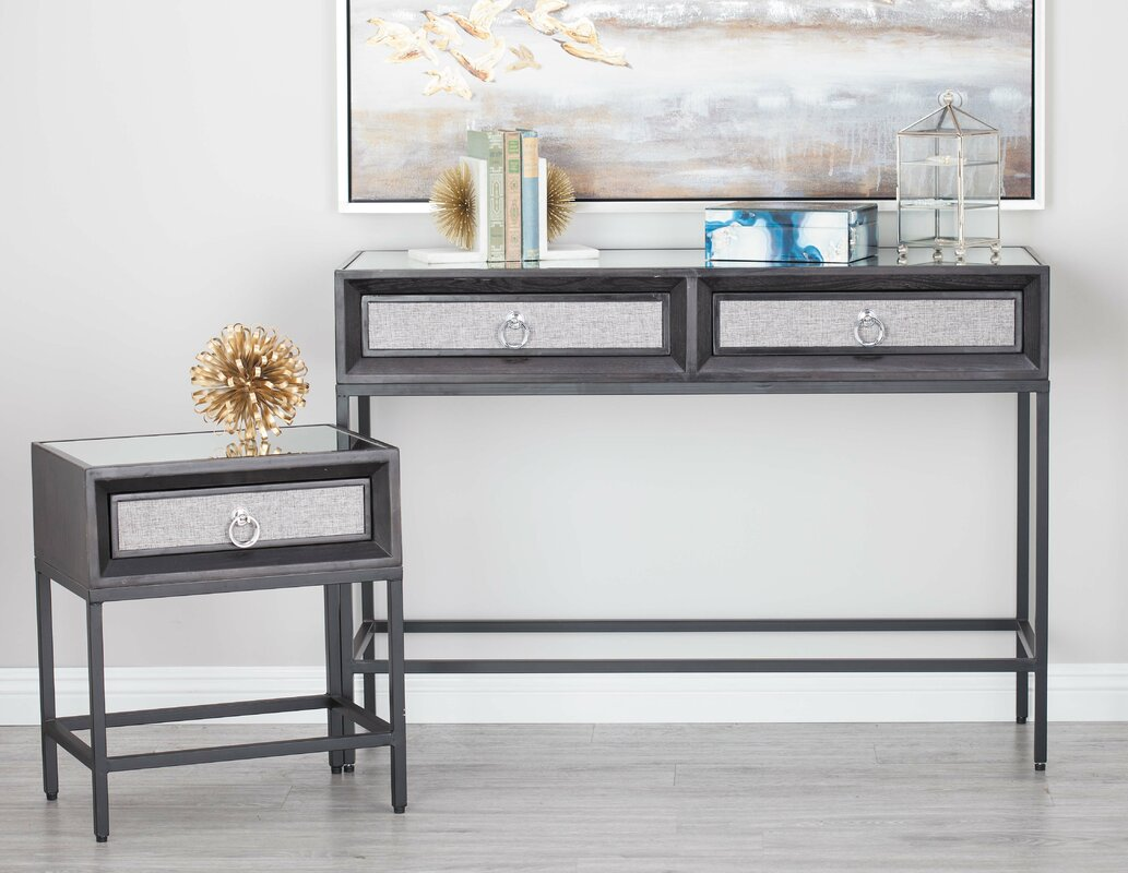 Mirror and console table sets image collections coffee table mirror console table sets image collections coffee table design cole grey 3 piece woodmetal mirror console geotapseo Image collections