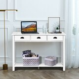 Cutshaw 45 Solid Wood Console Table by Longshore Tides