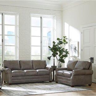 Pedigo 2 Piece Leather Living Room Set by Canora Grey