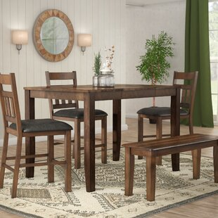 Osborne Square Gather Height Extendable Dining Table by Loon Peak #1