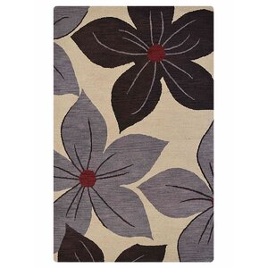 Anika Floral Hand-Tufted Wool Cream Area Rug
