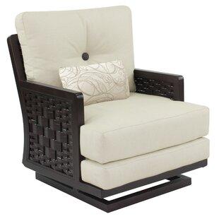 Leona Spanish Bay Swivel Rocking Chair with Cushion