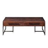 Livinia Trestle Coffee Table with Storage by Union Rustic