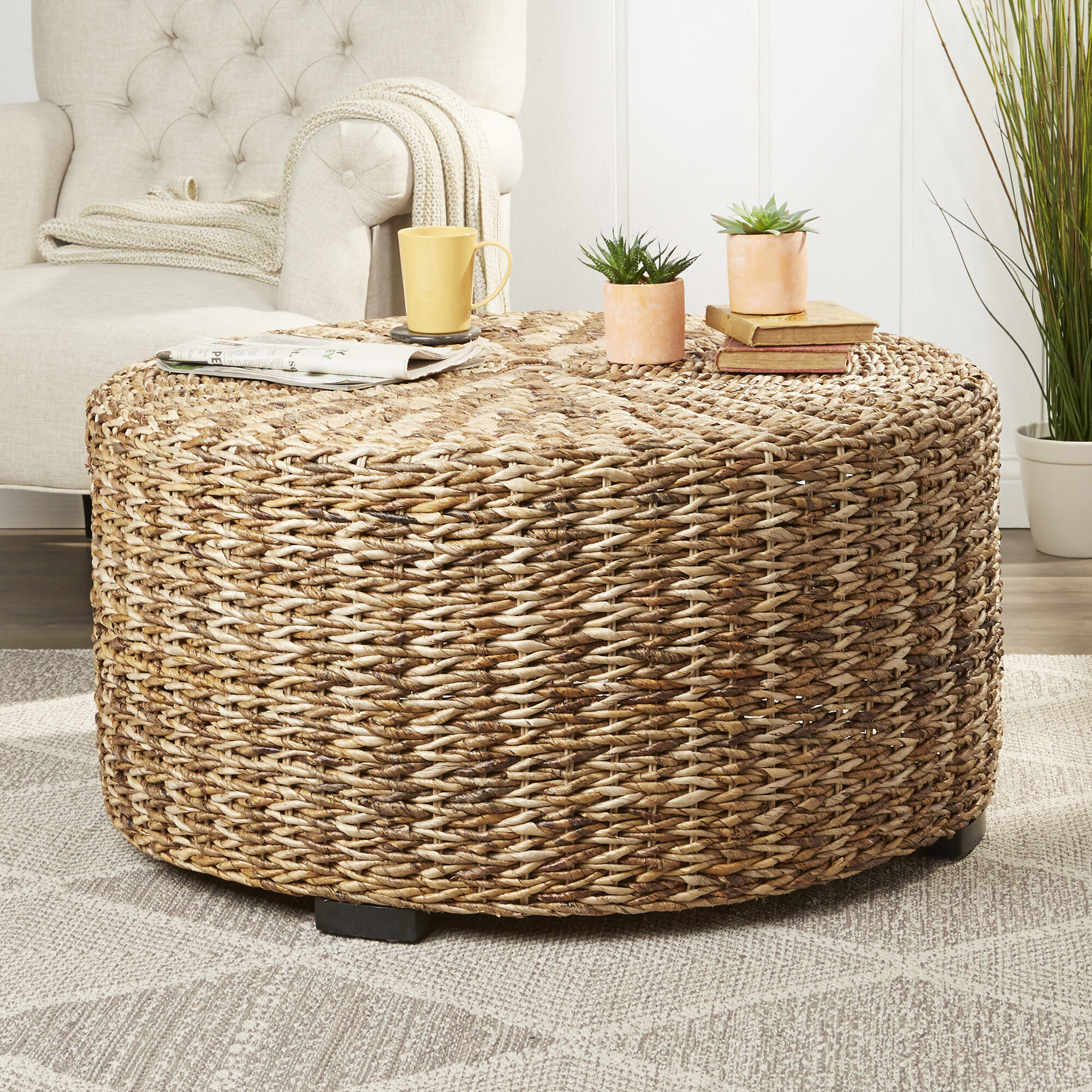 - Claiborne Woven Solid Coffee Table & Reviews Birch Lane