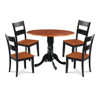Shorewood 3 Piece Drop Leaf Solid Wood Dining Set by August Grove Purchase