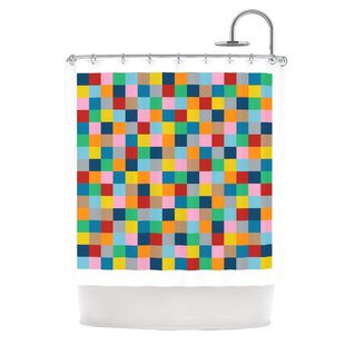 Colour Blocks Zoom Single Shower Curtain