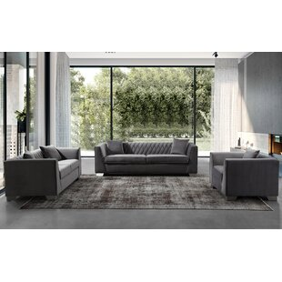 Brayden Studio Gagnon Contemporary Configurable Living Room Set