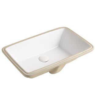 Affordable Janie Ceramic Rectangular Undermount Bathroom Sink With Overflow By Jade Bath