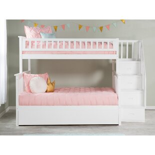 Bargain Abel Staircase Twin Over Full Standard Bed with Trundle By Harriet Bee