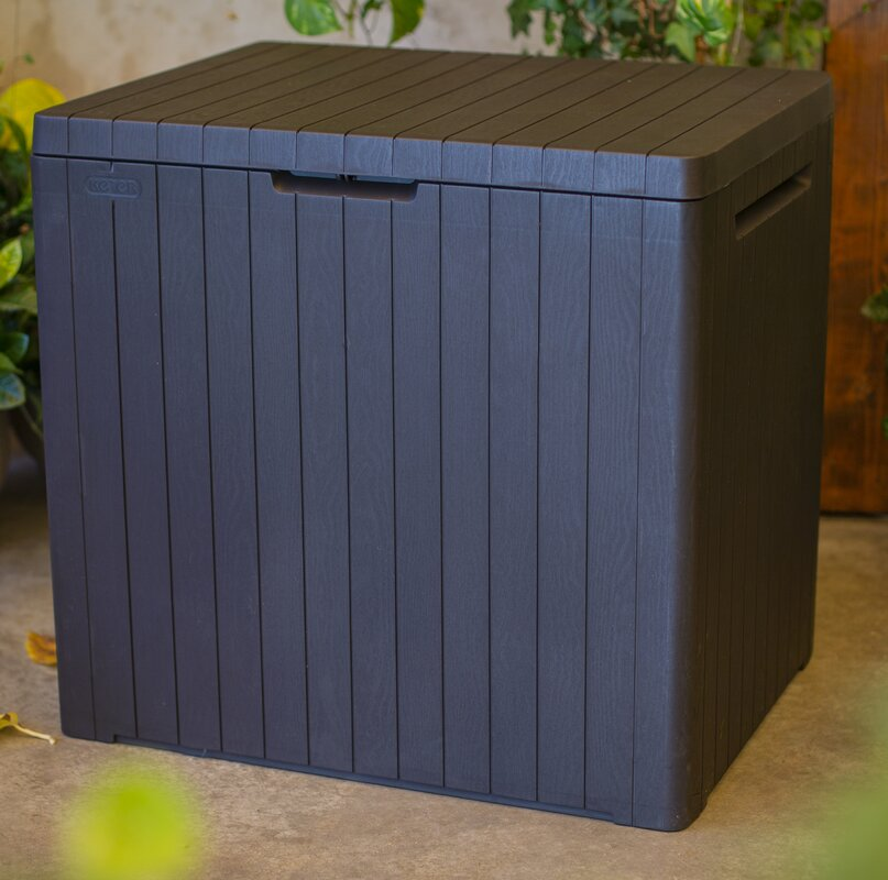 Keter City 30 Gallon Plastic Deck Box