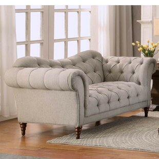 Rosdorf Park Alicia Button Tufted Loveseat