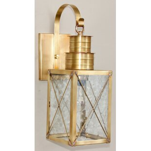 Great Price 200 Series 1-Light Outdoor Wall Lantern By Brass Traditions