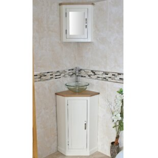 Crampton Compact Solid Oak 390mm Free-Standing Vanity Unit By Belfry Bathroom