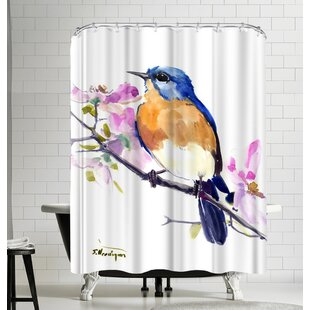 Suren Nersisyan Eastern Bluebird Single Shower Curtain