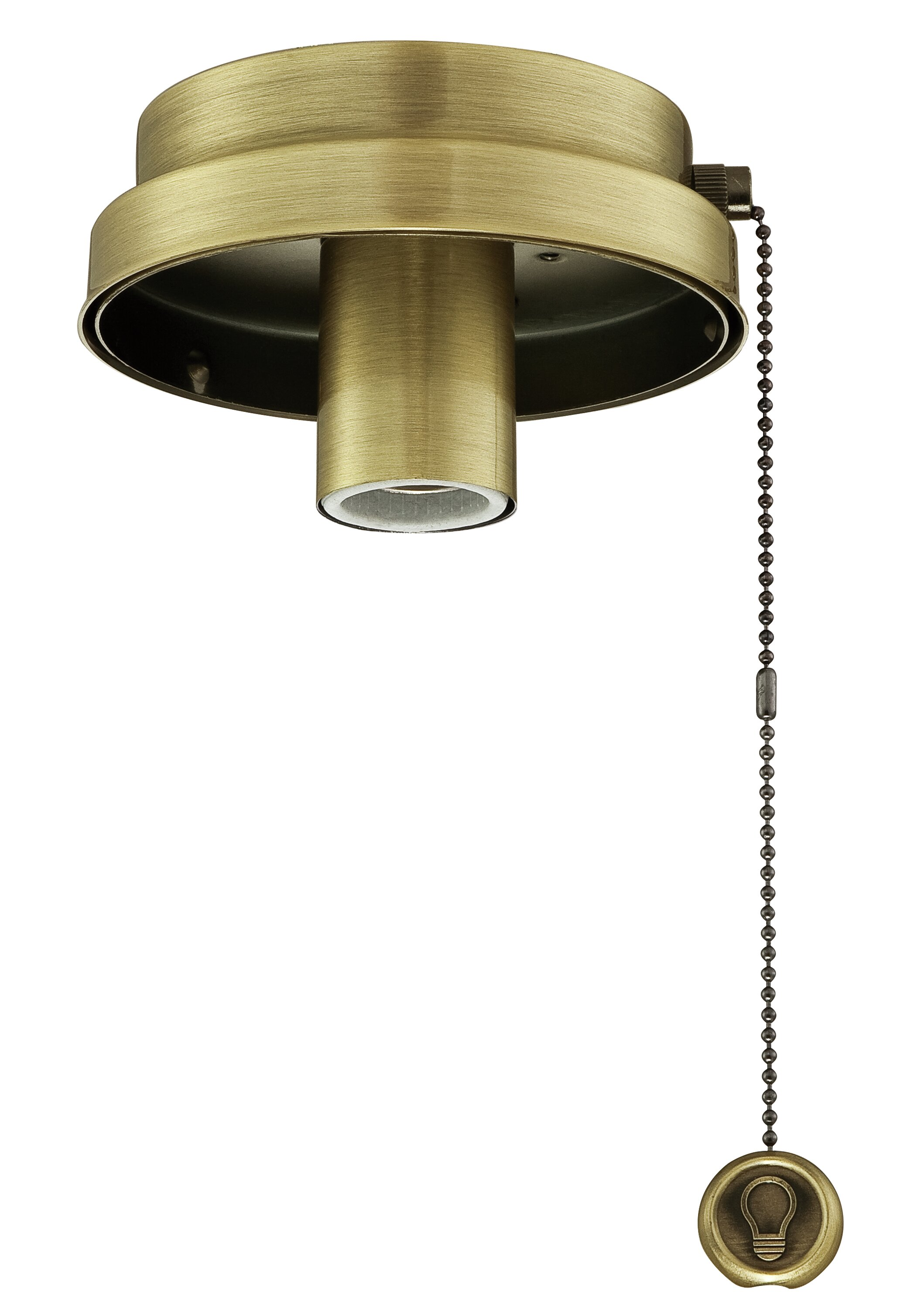 Fanimation Low Profile Pull Chain Operated 1 Light Led Ceiling Fan Light Fitter Wayfair Ca