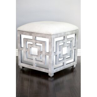 Reena Mirrored Storage Ottoman by Statements by J
