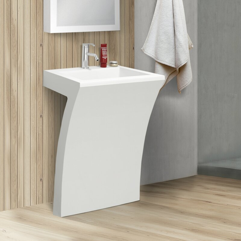 Fine Fixtures Cedar Falls 22 Quot Pedestal Sink With Overflow