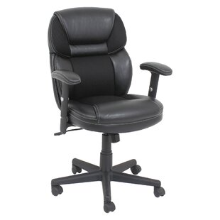 Oif Mid-Back Leather Desk Chair