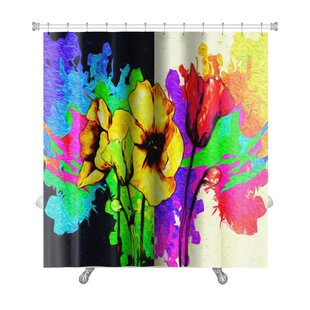 Flowers Digital Painting of Flowers Premium Single Shower Curtain