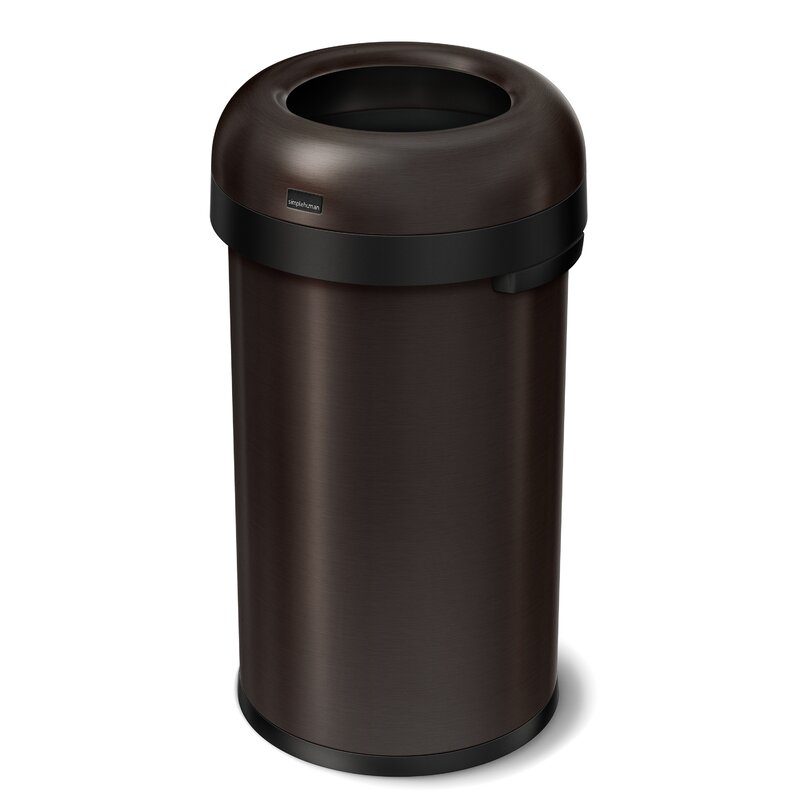 simplehuman bullet stainless steel 16 gallon trash can. Black Bedroom Furniture Sets. Home Design Ideas