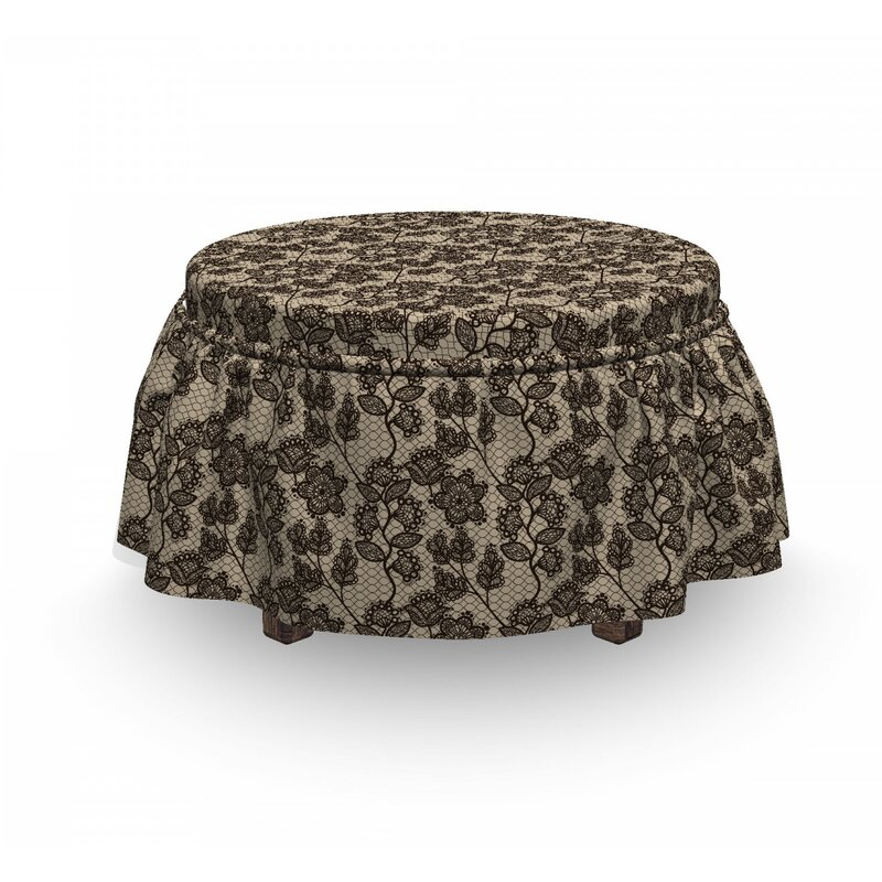 East Urban Home Ambesonne Vintage Ottoman Cover Floral