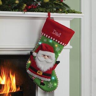 santa led personalized stocking - Where To Buy Christmas Stockings