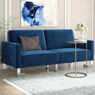 Whitbeck Cushion back Convertible Sofa by Willa Arlo Interiors SKU:EE787341 Details