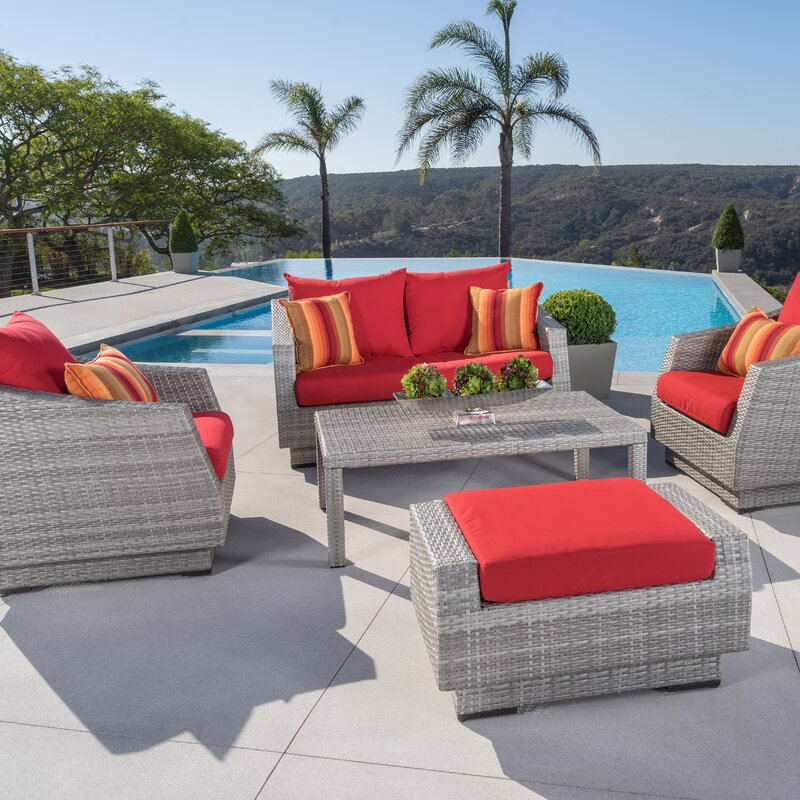 High Quality Alfonso 5 Piece Deep Seating Group With Sunbrella Cushion