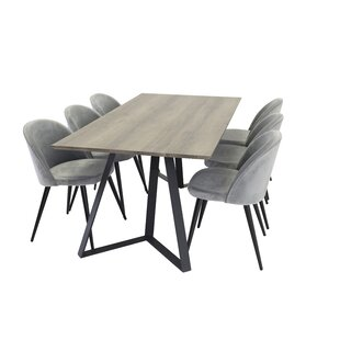Neilsen Dining Set With 6 Chairs By 17 Stories
