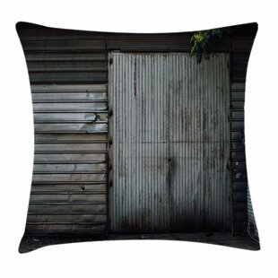 Zinc Door Old Square Pillow Cover by East Urban Home