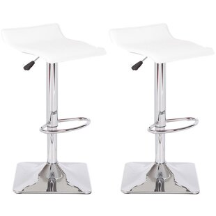 Jeanie Adjustable Height Swivel Bar Stool (Set of 2)