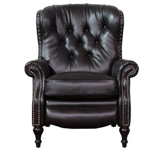 Lavoie Leather Manual Recliner Darby Home Co